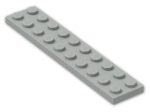 LEGO® Brick: Plate 2 x 10 (3832) | Color: Grey