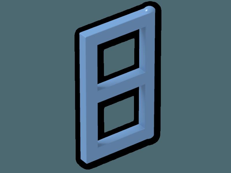 Window 1 x 2 x 3 pane 3854 medium blue for 2 x 3 window