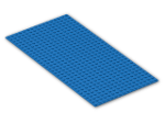 LEGO® Brick: Baseplate 16 x 32 with Square Corners (3857) | Color: Bright Blue