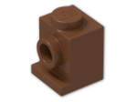 LEGO® Brick: Brick 1 x 1 with Headlight (4070) | Color: Reddish Brown