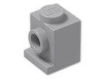 LEGO® Brick: Brick 1 x 1 with Headlight (4070) | Color: Medium Stone Grey