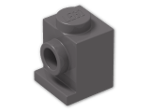 LEGO® Brick: Brick 1 x 1 with Headlight (4070) | Color: Dark Stone Grey