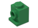 LEGO® Brick: Brick 1 x 1 with Headlight (4070) | Color: Dark Green