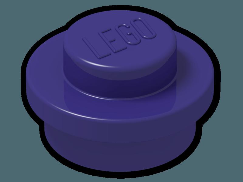 Round 1 x 1 Straight Side NEW LEGO x 100 Dark Purple Plate