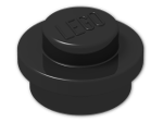 LEGO® Brick: Plate 1 x 1 Round (4073) | Color: Black