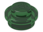 LEGO® Stein: Plate 1 x 1 Round (4073) | Farbe: Transparent Green