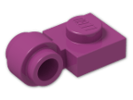 LEGO® Brick: Plate 1 x 1 with Clip Light Type 2 (4081b) | Color: Bright Reddish Violet