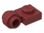 LEGO® Brick: Plate 1 x 1 with Clip Light Type 2 (4081b) | Color: New Dark Red