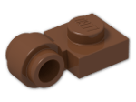 LEGO® Brick: Plate 1 x 1 with Clip Light Type 2 (4081b) | Color: Reddish Brown