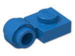 LEGO® Brick: Plate 1 x 1 with Clip Light Type 2 (4081b) | Color: Bright Blue