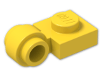 LEGO® Brick: Plate 1 x 1 with Clip Light Type 2 (4081b) | Color: Bright Yellow