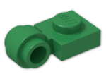 LEGO® Brick: Plate 1 x 1 with Clip Light Type 2 (4081b) | Color: Dark Green