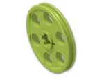 LEGO® Brick: Technic Wedge Belt Wheel (4185) | Color: Bright Yellowish Green