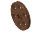 LEGO® Brick: Technic Wedge Belt Wheel (4185) | Color: Reddish Brown
