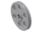 LEGO® Brick: Technic Wedge Belt Wheel (4185) | Color: Medium Stone Grey
