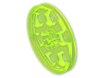 LEGO® Brick: Technic Wedge Belt Wheel (4185) | Color: Transparent Fluorescent Green