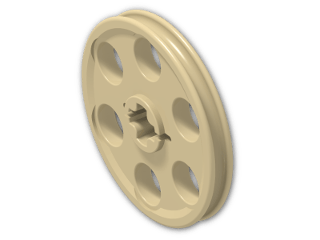 LEGO® Brick: Technic Wedge Belt Wheel (4185) | Color: Brick Yellow