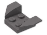 LEGO® Brick: Car Mudguard 2 x 4 Swept Back (41854) | Color: Dark Stone Grey