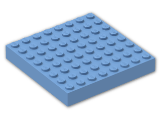 LEGO® Stein: Brick 8 x 8 (4201) | Farbe: Medium Blue