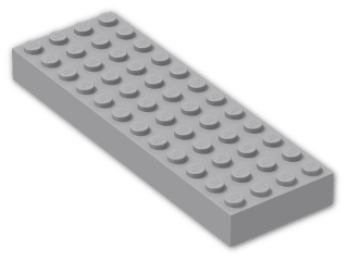 LEGO® Brick: Brick 4 x 12 (4202) | Color: Medium Stone Grey