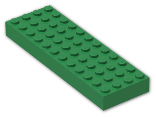 LEGO® Brick: Brick 4 x 12 (4202) | Color: Dark Green