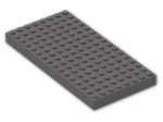 LEGO® Brick: Brick 8 x 16 (4204) | Color: Dark Stone Grey