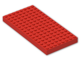 LEGO® Brick: Brick 8 x 16 (4204) | Color: Bright Red