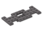 LEGO® Brick: Car Base 4 x 10 x 0.667 with 2 x 2 Center Open (4212b) | Color: Dark Stone Grey