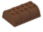 LEGO® Brick: Container 4 x 6 x 1.667 Lid (4238) | Color: Reddish Brown