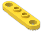 LEGO® Brick: Technic Plate 1 x 4 with Holes (4263) | Color: Bright Yellow