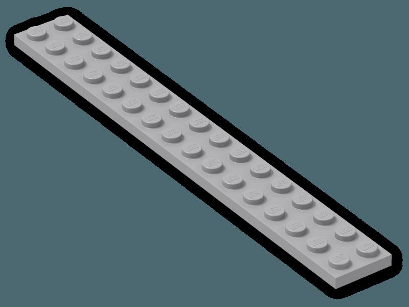 4282 White x2 Lego Plate 2x16
