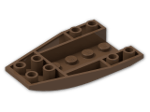 LEGO® Stein: Wedge 6 x 4 Triple Curved Inverted (43713) | Farbe: Brown