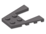 LEGO® Brick: Wing 4 x 4 with 2 x 2 Cutout (43719) | Color: Dark Stone Grey