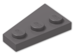 LEGO® Stein: Wing 2 x 3 Right (43722) | Farbe: Dark Stone Grey
