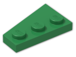 LEGO® Stein: Wing 2 x 3 Right (43722) | Farbe: Dark Green