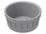 LEGO® Brick: Barrel 4.5 x 4.5 (4424) | Color: Medium Stone Grey