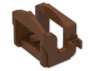 LEGO® Brick: Animal Horse Saddle with Two Clips (4491b) | Color: Reddish Brown
