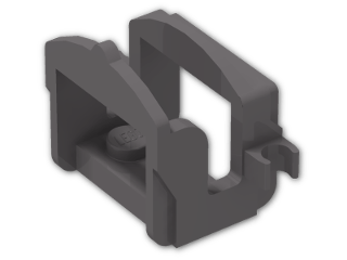 LEGO® Brick: Animal Horse Saddle with Two Clips (4491b) | Color: Dark Stone Grey