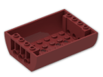 LEGO® Stein: Slope Brick Curved 6 x 8 x 2 Inverted Double (45410) | Farbe: New Dark Red