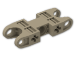 LEGO® Stein: Technic Ball Socket 5 x 2 Double Rounded (47296) | Farbe: Sand Yellow
