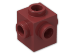 LEGO® Brick: Brick 1 x 1 with Studs on Four Sides (4733) | Color: New Dark Red