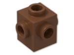 LEGO® Brick: Brick 1 x 1 with Studs on Four Sides (4733) | Color: Reddish Brown