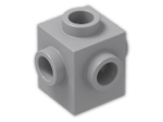 LEGO® Brick: Brick 1 x 1 with Studs on Four Sides (4733) | Color: Medium Stone Grey