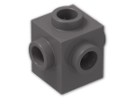 LEGO® Brick: Brick 1 x 1 with Studs on Four Sides (4733) | Color: Dark Stone Grey