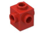 LEGO® Brick: Brick 1 x 1 with Studs on Four Sides (4733) | Color: Bright Red