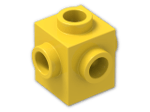 LEGO® Brick: Brick 1 x 1 with Studs on Four Sides (4733) | Color: Bright Yellow