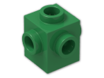 LEGO® Brick: Brick 1 x 1 with Studs on Four Sides (4733) | Color: Dark Green