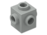 LEGO® Brick: Brick 1 x 1 with Studs on Four Sides (4733) | Color: Grey