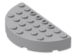 LEGO® Stein: Brick 4 x 8 Round Half Circle (47974) | Farbe: Medium Stone Grey