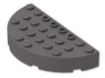 LEGO® Brick: Brick 4 x 8 Round Half Circle (47974) | Color: Dark Stone Grey